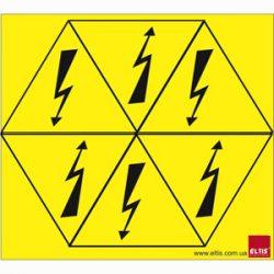 Знаки електробезпеки, що клеються Елтіс