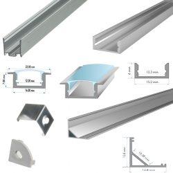 Профіля алюмінієві для ЛЕД-стрічки з розсіювачем