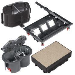 Підлогові лючки та монтажні коробки серії Ultra
