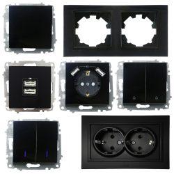 ZENA SL матова чорна модулі і рамки окремо