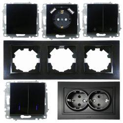 ZENA NL чорна глянцева модулі і рамки окремо